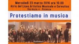 A POTENZA DOMANI I DOCENTI DEL LICEO MUSICALE PROTESTANO CONTRO LA RECENTE INIZIATIVA DEL GOVERNO RENZI!