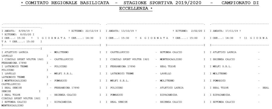 Calcio Mondiali 2020 Calendario.Calcio Basilicata Stagione Sportiva 2019 2020 Ecco Il